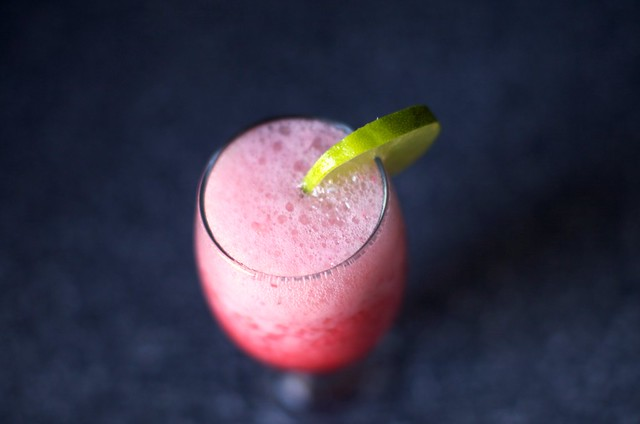 raspberry limeade slushie