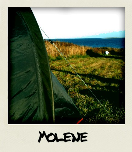Camping sauvage à Molène