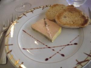 Foie gras with toast