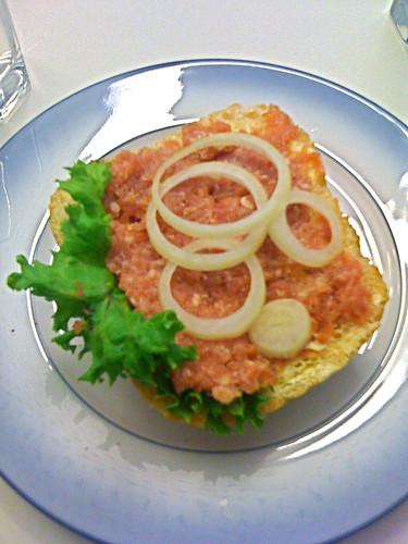 steak tartar sandwich!! yum