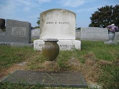 Irvin Wilkins' Grave in Olive Branch Cemetery, Portsmouth, VA