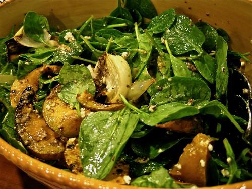 Grilled Pumpkin Baby Spinach Salad