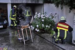 Brennende Gasflasche Parkweg 31.07.10