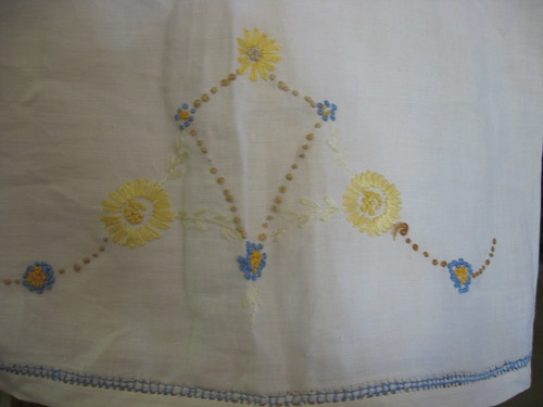 tea towel embroidery