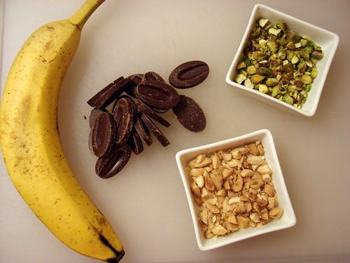 banana, chocolate, nuts