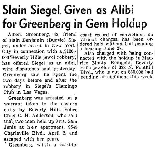 Al Greenberg's Alibi