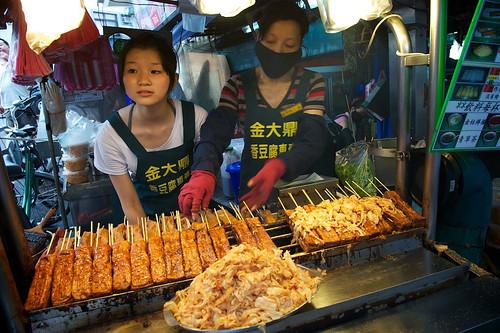 A Famous Stinky Tofu Vendor Sells Tofu