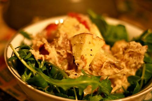 Smoked mackerel, apple and potato horseradish salad © dan and tuesday