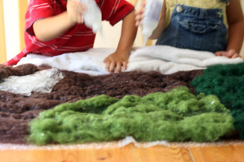 wet felted playmat