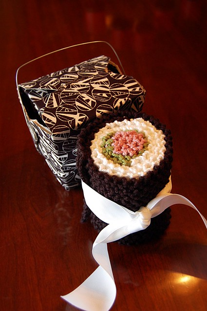 Sushi Scarf and Takeout Box