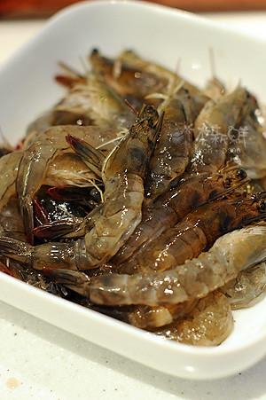 新鮮的蝦子,透亮的光澤
