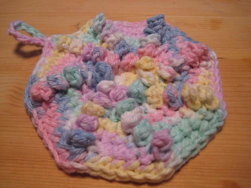 Spiral Nubby Dishcloth 1
