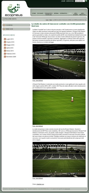 Italian site ecopnues.it uses my photos of Empire Stadium