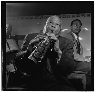 [Portrait of Sidney Bechet, Freddie Moore, and...