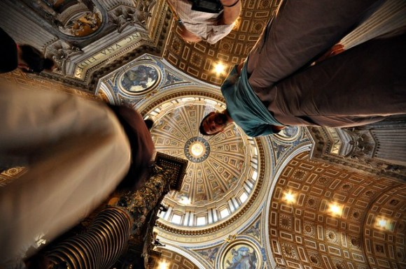 St Peter's Basilica from the floor