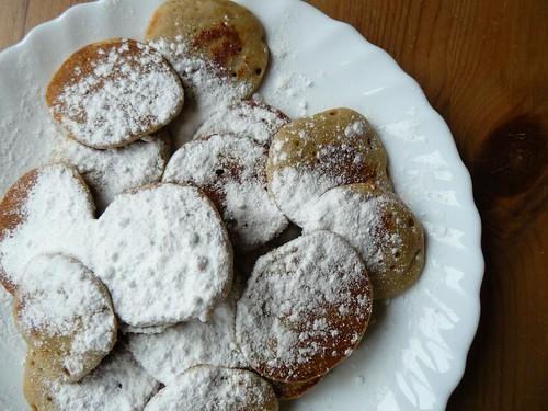 Poffertjes made in a regular frying pan