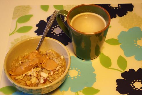 oatmeal, coffee
