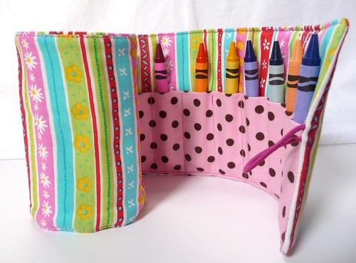 Girls Crayon Roll by Samantha Halliwell