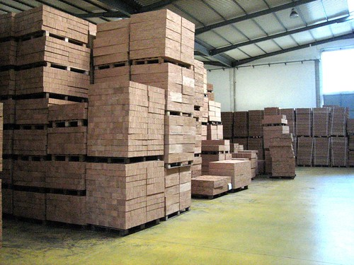 Cork Flooring Raw material ready for slicing