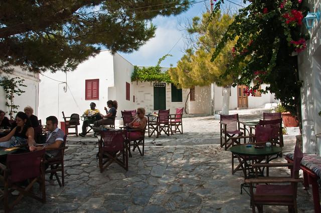 Orange juice in the main square, Hora, Amorgos