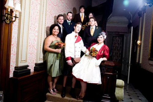 Bridal party of AWESOME.