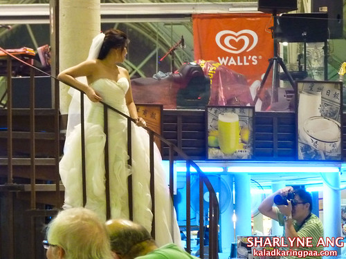 Bride Trashing the Wedding Dress in Lau Pa Sat