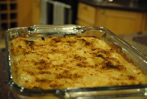 Cauliflower Gratin in Baking Dish