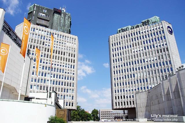 Ljubljana市內最高的大樓,因為被居民抗議的關係,所以只蓋了這麼高。