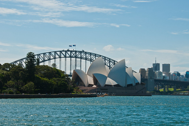 Opera House and Harbour Bridge from the Botanic Gardens