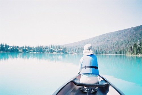 Emerald lake canoeing