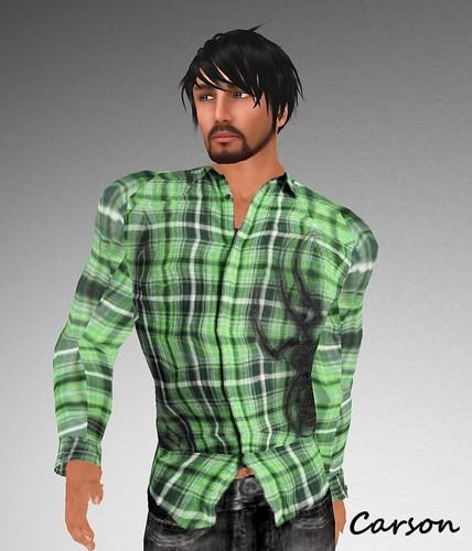 BC & Co. Cowboys Rock Green Plaid Shirt GG