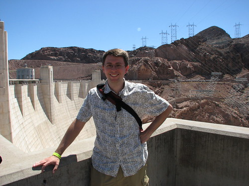 keith at the hoover dam (nevada side)