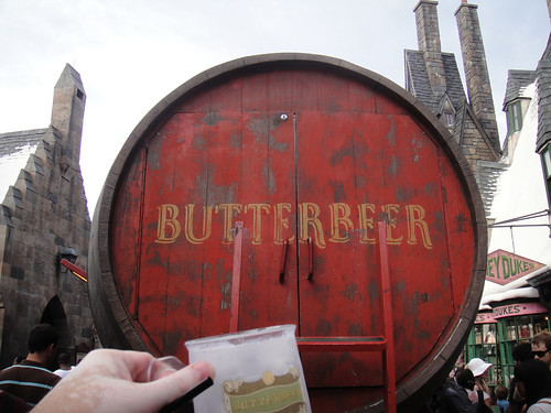 Wizarding World of Harry Potter - a toast to the giant Butterbeer cart keg