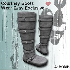 A-BOMB Courtney Boots-Wear Gray Exclusive 20L