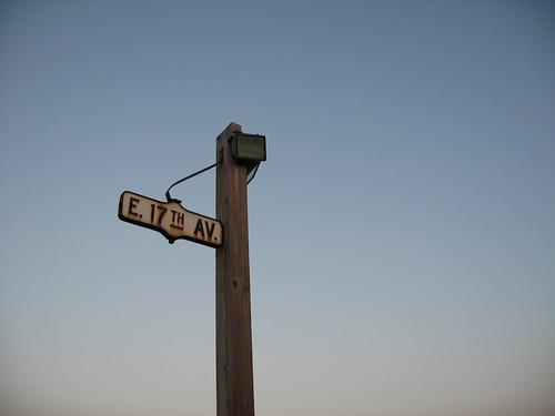 Streetsign on Hateras