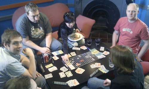 Acquire boardgame @ Cafe Games