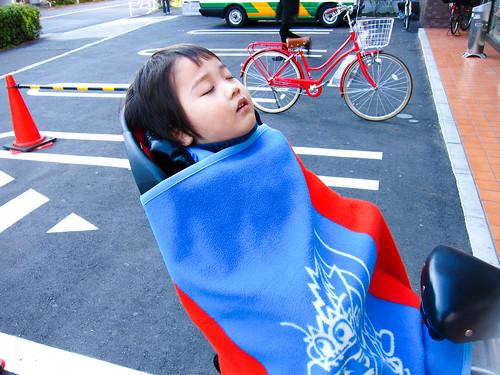 Japanese sleeping in Tokyo
