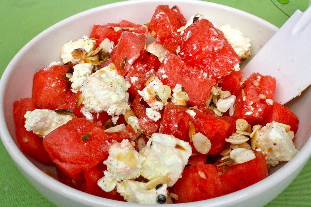 Watermelon, Feta, and Almond Salad