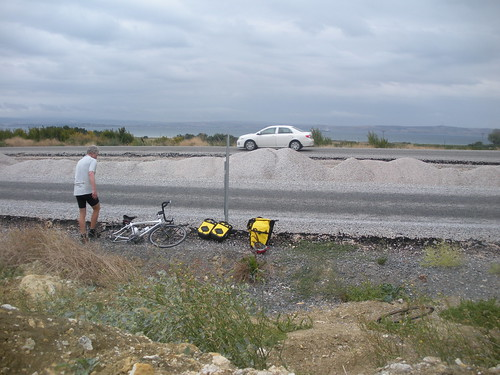 Tyre change by the Dardenelles