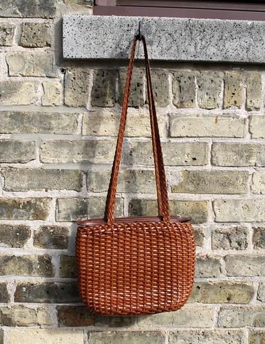Handbag Auburn Leather Woven2