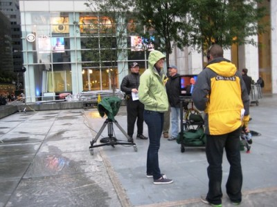 Waiting Outside CBS's The Early Show, Oct. 5, 2010