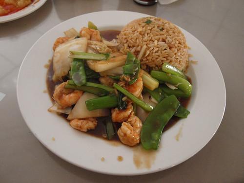 Perú: Gambas con verdutitas y arroz chaufa