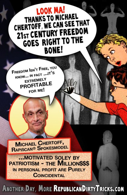 Michale Chertoff Look Ma!  21st Century Freedom Goes Right to the Bone Image