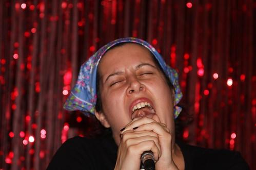 Amanda singing karaoke