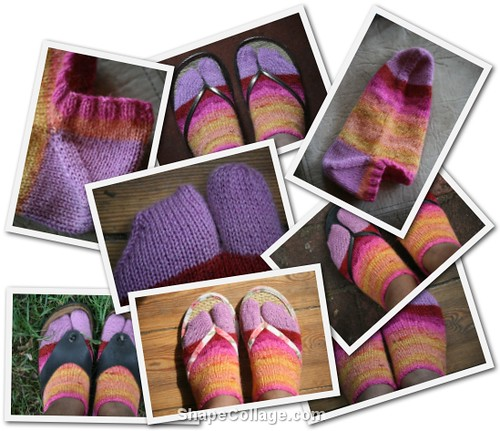 New Pattern:  Summer Tabi Anklets (3/3)