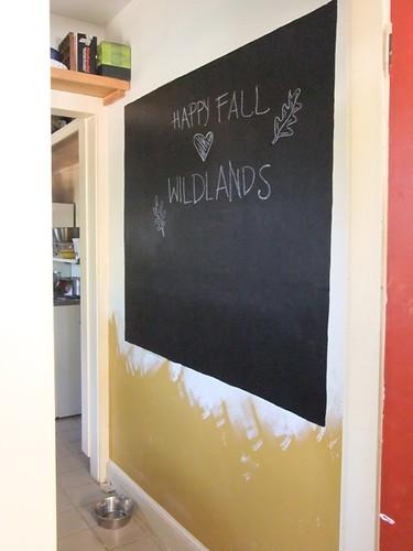 Chalkboard wall 90% done
