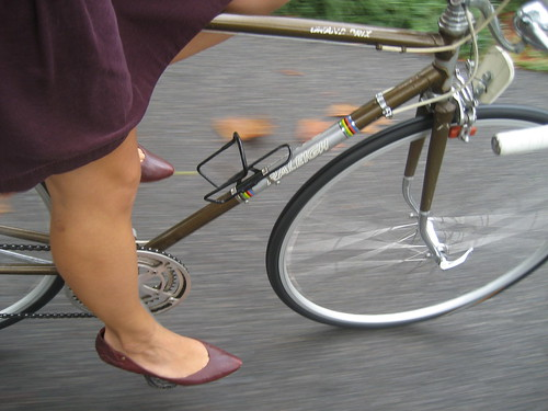Roadbikin' in heels