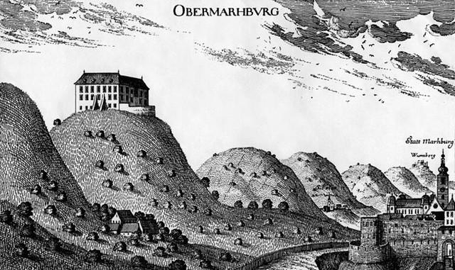 這座就是當時在山丘上的城堡,後來被大火燒掉了,很是可惜。Maribor預計將在原址挖出文物並興建一座博物館。