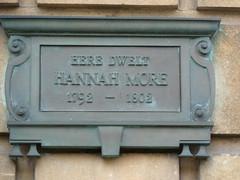 Hannah More plaque