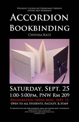 Accordion bookbinding poster
